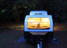 The teardrop trailer DROPLET brings the outdoors inside