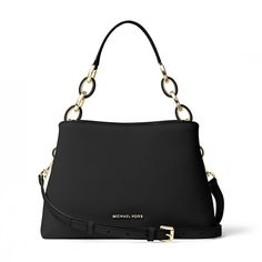 MICHAEL Michael Kors Portia Saffiano Leather Shoulder Bag Black 72a579ebd4718