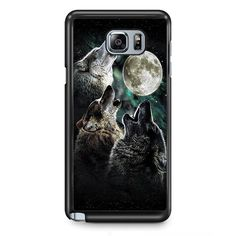 Three Wolf Moon TATUM-11212 Samsung Phonecase Cover Samsung Galaxy Note 2 Note 3 Note 4 Note 5 Note Edge