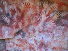 Cueva de las Manos (Cave of the Hands),  southern Patagonia. Paintings made by natives (between 13,000 and 9,500 years ago)  http://www.argentour.com/en/province/santa_cruz/cueva_de_las_manos.php