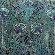 Regent Peacock Fabric by Alexander Henry, Fabric by the Yard by LaCreekBlue on Etsy