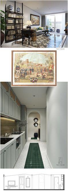 - D.APARTMENT SG - CITYLAND PARKHILS - VIETNAM - on Behance House Paint Interior, Interior Design, Asian Interior, House 2, Living Room Designs, Living Rooms, House Painting, Vietnam, Behance
