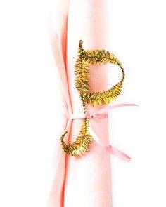 Tinsel Napkin Rings