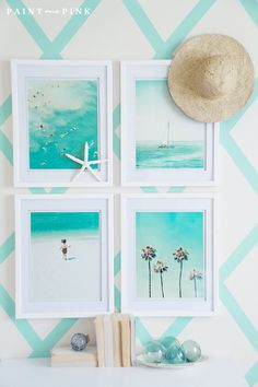 Juliet's Beach Bedroom Reveal - Paint Me Pink A Beach Inspired Bedroom - find ideas for your own coastal home by enhancing the natural beauty of your bedroom with crisp whites and a splash of color! Beach Cottage Style, Beach Cottage Decor, Coastal Cottage, Coastal Style, Coastal Decor, Cottage Ideas, Coastal Bedrooms, Coastal Living Rooms, Beach Inspired Bedroom