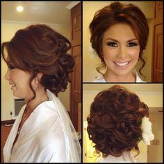 Bridal updo by me. - - Bridal updo by me. Bridesmaid Hair Updo, Prom Hair Updo, Hairdo Wedding, Bridal Hair Updo, Wedding Hair And Makeup, Hair Makeup, Pageant Hair, Hair Upstyles, Wedding Hair Inspiration