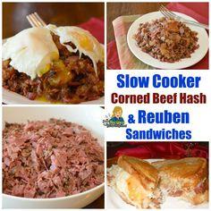 Crockpot corned beef Hash & Reuben Sandwiches perfect for St. Patricks Days perfect for St. Patricks Days