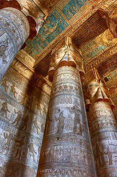 *EGYPT ~ Temple of Hathor, Dandarah, Egypt