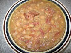 Crock Pot Ham Bone and Beans
