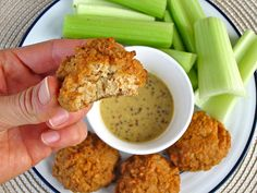 Chick-less Nuggets + Sweet 'n Spicy Mustard Sauce. (Actually made this and the recipe is a KEEPER. Even the mustard sauce, and I detest mustard!)