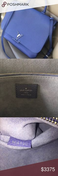 """(TRADED) Authentic Louis Vuitton Lim Ed Volta Bag Bag was introduced in August 2016 as a limited edition colorOnly in production for 3 months. Purchased at Neiman Marcus. Color cannot be found literally anywhere!   COA from Pro Authenticators, this color bag in Bleu Roi is in like new condition! Asking $2750 or best offer.  Dimensions 11.8""""x11""""x5.1"""" Louis Vuitton Bags Satchels"""