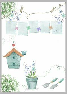 Watercolor Cards, Watercolor Illustration, Watercolor Paintings, Decoupage Vintage, Decoupage Paper, Theme Background, Paper Background, Eid Crafts, School Murals