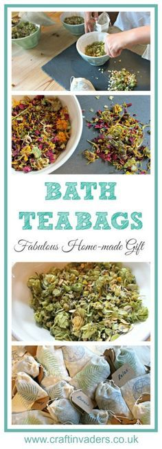 These DIY Bath Tea Bags are such fun to make, and can be tailored to suit the recipient. They make a love gift idea or party favor.