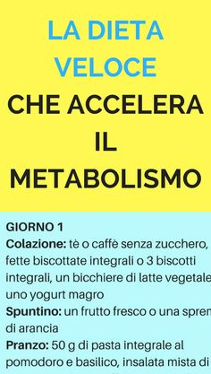 La dieta veloce che accelera il metabolismo e ti fa perdere 6 kg in poco tempo -. The fast diet that speeds up the metabolism and makes you lose 6 kg in a short time - # Wellness Fitness, Health And Wellness, Health Fitness, Stress, Menu Dieta, 1000 Calories, Nutrition, Health Diet, Herbal Remedies