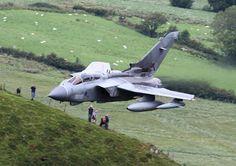 RAF Tornado GR4 Tornado ZD749 screams low through the Mach Loop