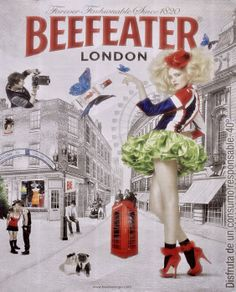 Beefeater Gin Poster By Mary Machare