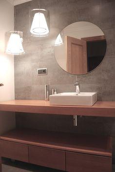 Ideas de #Baño, estilo #Contemporaneo color  #Marron,  #Marron,  #Blanco, diseñado por GesHAB Interiorismo  #CajonDeIdeas