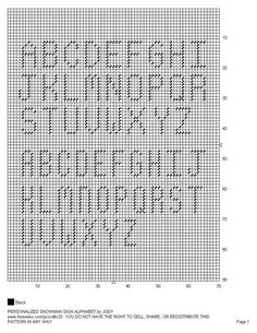 Plastic Canvas Alphabet