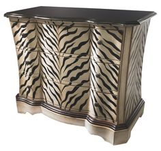 Zebra chest? Yes please! It's perfect for any Vegas styled home.    Find out what type of home decor style you have by taking our Stylescope quiz. Click here!