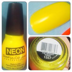 Sinful Colors Neon nail polish - The Bright Thing