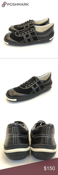 HOGAN Sneakers Brand new, in box. Hogan black and white sneakers. Never worn. Contrast stitching. Hogan Shoes Sneakers