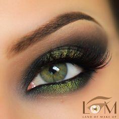 Smoldering Green shadow #eyes #eye #makeup #dark #bold #dramatic
