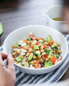 Healthy Bowl: Fresh Chopped Salad   a Couple Cooks