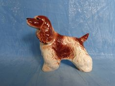 Vintage Cocker Spaniel Figurine Dog statue by PamperedPupster