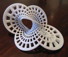 math + art = Mobius sculptures.