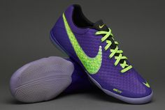 Nike Football Boots - Nike Elastico Finale II - Fives - Indoor - Soccer Cleats - Pure Purple-Volt-Electric Green