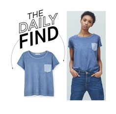"""The Daily Find: Mango T-Shirt"" by polyvore-editorial ❤ liked on Polyvore featuring MANGO and DailyFind"