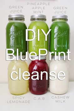 A while back I created a DIY BluePrint cleanse , a juicing detox that you can do. - A while back I created a DIY BluePrint cleanse , a juicing detox that you can do at home without sp - Detox Diet Drinks, Juice Cleanse Recipes, Detox Juice Cleanse, Natural Detox Drinks, Smoothie Detox, Fat Burning Detox Drinks, Juice Smoothie, Detox Recipes, Detox Juices