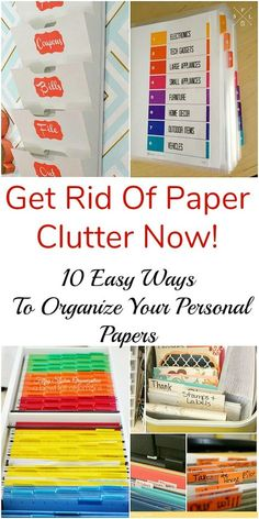 10 Handy Ways to Organize Your Personal Papers - A Cultivated Nest - - Overwhelmed by paper clutter? Then you need to try one of these handy ways to organize your personal papers! Never waste time looking for paperwork again!
