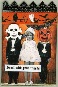 A Nostalgic Halloween: Halloween ATC by April Dudko
