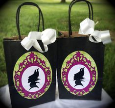 Maleficent Birthday Party Treat Sacks Candy by WizysPartyShop, $12.50