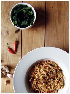 Esparguete Picante com Cogumelos