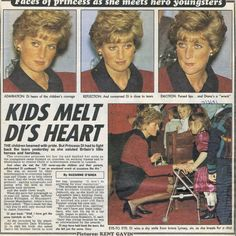 Today's Memories Of Diana is from February 7th 1991. Princess Diana had to fight back the tears when attended Britain's Child Achievement Awards in London. She was so moved by the children who came forward in wheelchairs and on crutches to collect their awards, and broke with royal proctol and signed autographs and posed for photographs with the children as their parents took the pictures.