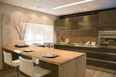 cozinha americana sem parede - Pesquisa Google - conjunto das cores e decoração