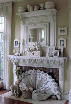 Family Room mantel (from A Re-Purposed Life)