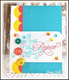Rejoice card created by Tammy Hobbs @ Creating Somewhere Under The Sun for @Dena Meyst Design using Cross and VIne Stamp #denamidesign