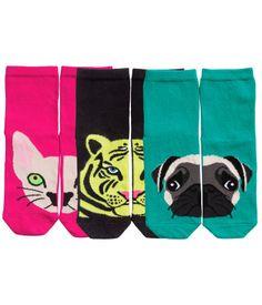 Animal socks. Adorable.