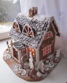 Gingerbread House Template, Gingerbread House Designs, Christmas Gingerbread House, Gingerbread Cake, Christmas Cookies, Gingerbread Houses, All Things Christmas, Christmas Holidays, Xmas