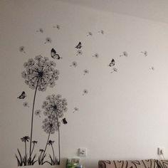 Beautiful Butterfly Dandelion 3D Wall Art