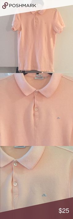 J. Lindeberg  Peach Slim Fit Polo Small Excellent condition, rarely worn J. Lindeberg peach/pink slim fit polo - size small. J. Lindeberg Shirts Polos