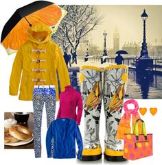 Running Errands on a Rainy Saturday, created by coconotta on Polyvore