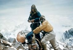 Sir Edmund Hillary & His Guide At the Peak of Everest in 1953