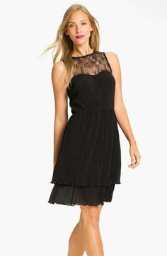 Great dress for special holiday occasions - Jessica Simpson Lace Yoke Tiered Chiffon Dress | Nordstrom