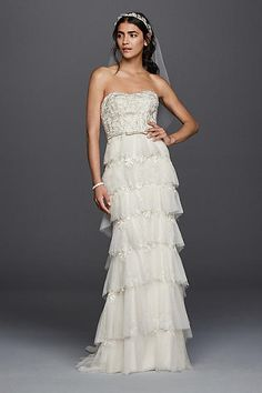 Melissa Sweet Wedding Dress with Tiered Skirt MS251143