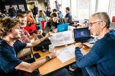 Teams at work, Startup Weekend Saint-Brieuc (Brittany, France)