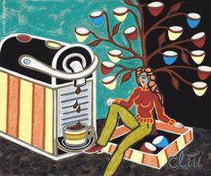 JACQUELINE DITT - Under the Coffee Capsule Tree 2012 Gemälde Kaffeemaschine Bild