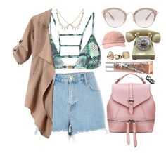 """""""Yoins"""" by amoiblog ❤ liked on Polyvore featuring ViX, River Island, Benefit, Miu Miu, yoins, yoinscollection and loveyoins"""